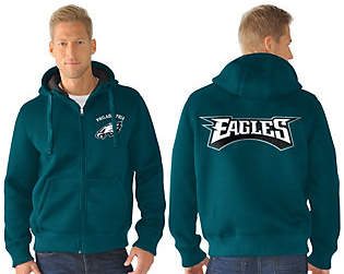 NFL Team Color Poly Knit with Sherpa Lining ZipUp Hoodie