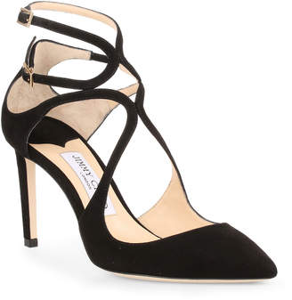 Jimmy Choo Lancer 85 black suede pumps