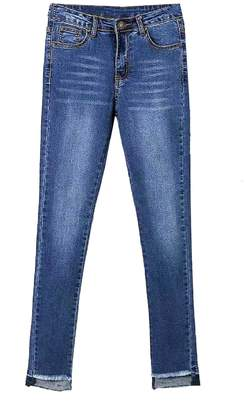 Goodnight Macaroon 'Buth' Raw Hem Skinny Jeans (2 Colors)