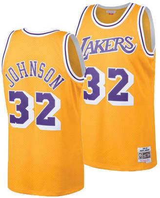 4a8181be Mitchell & Ness Big Boys Magic Johnson Los Angeles Lakers Hardwood Classic  Swingman Jersey