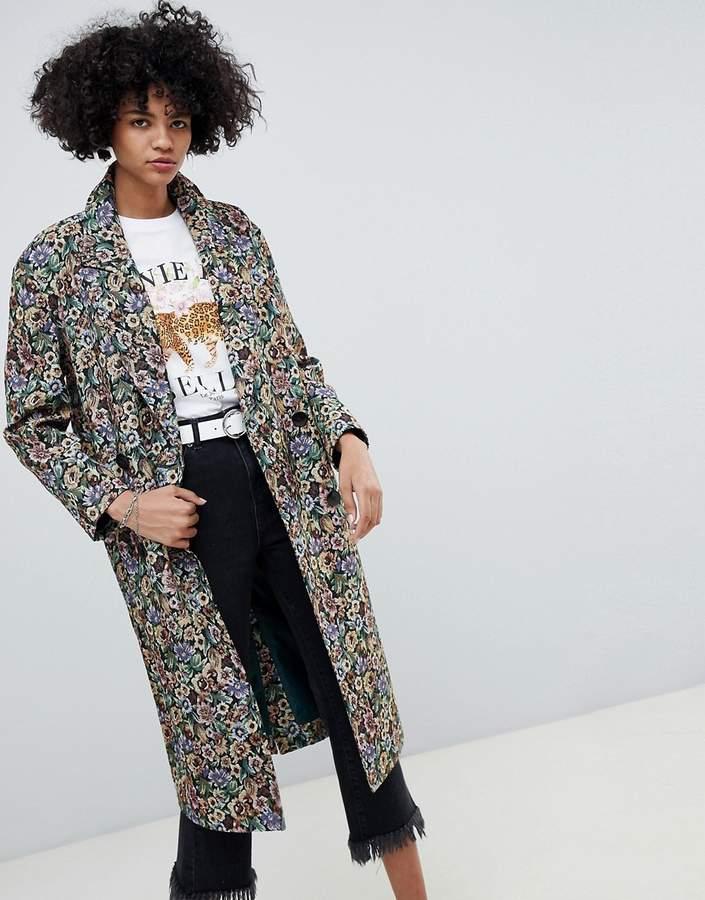 ASOS DESIGN tapestry coat