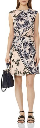 REISS Celia Heritage Floral Silk Dress $425 thestylecure.com