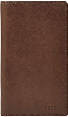 Fossil Ingram Executive Checkbook Leather Wallet