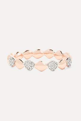 Monica Vinader Nura Teardrop Rose Gold Vermeil Diamond Ring