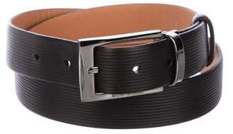 Montblanc Embossed Leather Belt