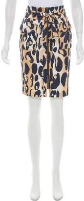 Diane von Furstenberg Rev. Maeve Animal Print Skirt