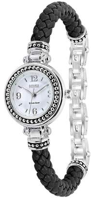 Ecclissi watches Women's Braided Bangle Watch, 25mm