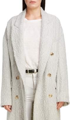 Isabel Marant Longline Double Breasted Alpaca & Wool Coat