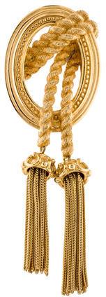 Christian Dior Christian Dior Medallion & Tassel Brooch Pin