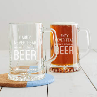 Becky Broome Personalised 'Never Fear' Beer Tankard