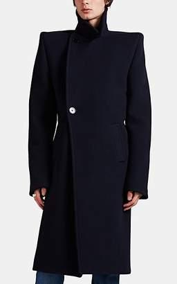 Balenciaga Men's Square-Shoulder Peacoat - Navy
