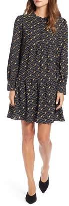 Halogen Pintuck Detail Shift Dress