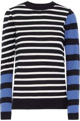 Derek Lam 10 Crosby Striped Intarsia-Knit Sweater
