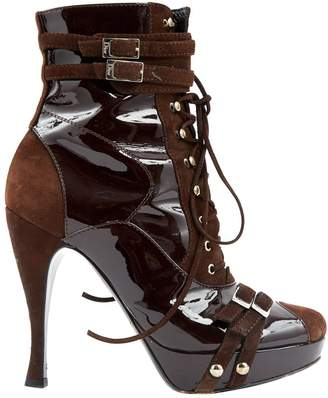 Christian Dior Brown Patent leather Boots