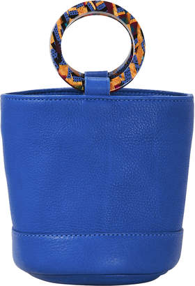 Simon Miller Bonsai Blue Leather Mini Bucket Bag
