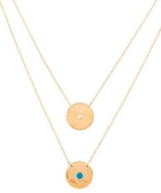 Jennifer Zeuner Jewelry Double Pendant Diamond & Crystal Necklace