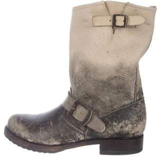 Frye Distressed Leather Ankle Boots