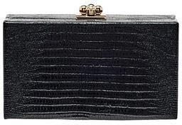 Edie Parker Jean Lizard Framed Box Clutch Bag