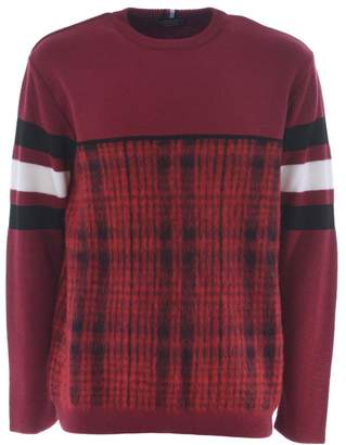 Tommy Hilfiger Checked And Striped Trim Sweater