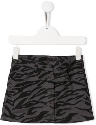 Zadig & Voltaire Kids animal-print mini skirt