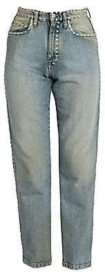 Miu Miu Women's Crystal-Embellished Mom Jeans