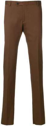 Tonello creased slim fit trousers