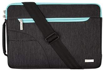 Mosiso Laptop Shoulder Bag Sleeve Briefcase,Polyester Fabric Case for 15-15.6 Inch Laptops/Notebook Computer/MacBook Air& Pro/Chromebook(Internal Dimensions: 15.16 x 0.79 x 10.63 inches),Black