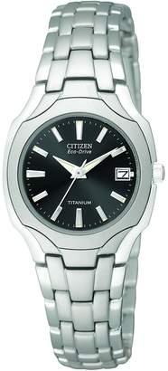 Citizen Women's EW1400-53H Eco-Drive Titanium Dark Grey Dial Watch