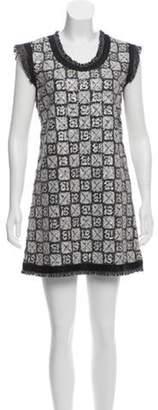 Chanel Sequined Mini Dress Black Sequined Mini Dress