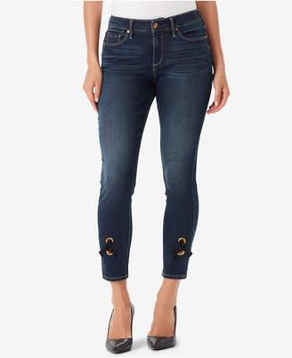 Vintage America Juniors' Wonderland Lace-Up Skinny Jeans