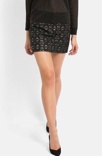 Maje 'Eblouie' Jacquard Miniskirt
