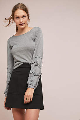 Moth Kayla Ruffled-Sleeve Pullover