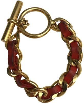 Chanel Vintage Red Metal Bracelets
