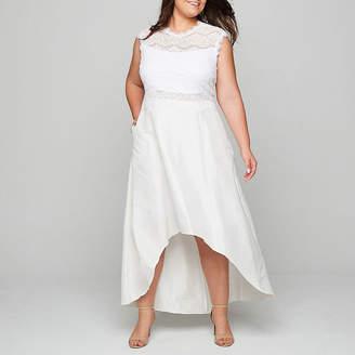 BLU SAGE Blu Sage Lace 2-Piece High-Low Dress - Plus