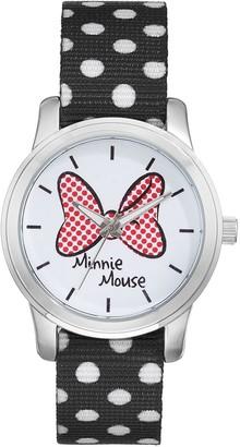 Disney Disney's Minnie Mouse Bow Women's Polka Dot Reversible Watch