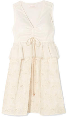 See by Chloe Embroidered Cotton-voile Dress