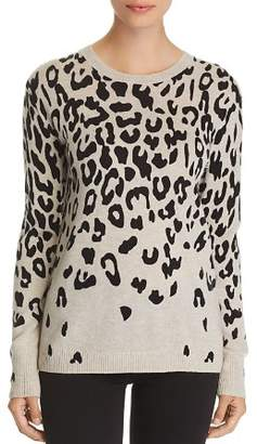 Bloomingdale's C by Cascade Leopard Cashmere Sweater - 100% Exclusive