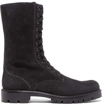 Rene Caovilla Crystal-embellished Suede Boots - Black