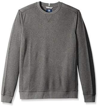 Cutter & Buck Men's Bayview Crewneck Flatback Rib Pullover Sweatshirt