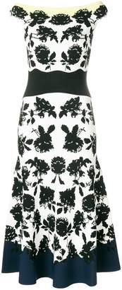 Alexander McQueen off-shoulder floral midi dress