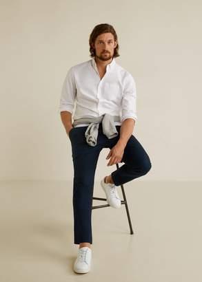 MANGO MAN - Regular fit Oxford cotton shirt white - XXS - Men