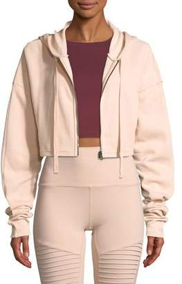 Alo Yoga Extreme Crop Hooded Zip-Front Jacket