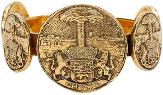 One Kings Lane Vintage Chanel Tarots Coin Gold Cuff - Vintage Lux