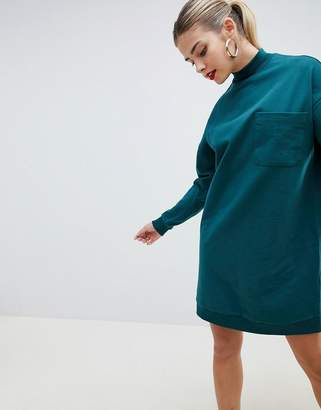 Asos Design DESIGN sweat dress with patch pocket