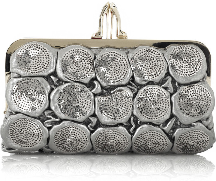 Christian Louboutin Carillon quilted leather clutch