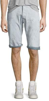 G Star G-Star ARC 3D Bleached Wash Shorts with Distressing