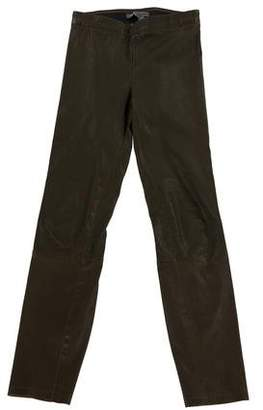 Vince Mid-Rise Leather Leggings