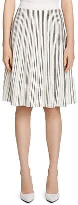 Calvin Klein Striped Flare Skirt