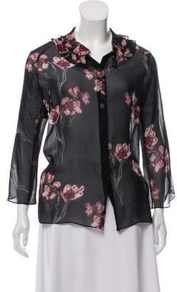Jean Paul Gaultier Floral Long Sleeve Top