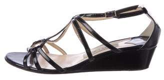 Jimmy Choo Michiko Patent Leather Wedges